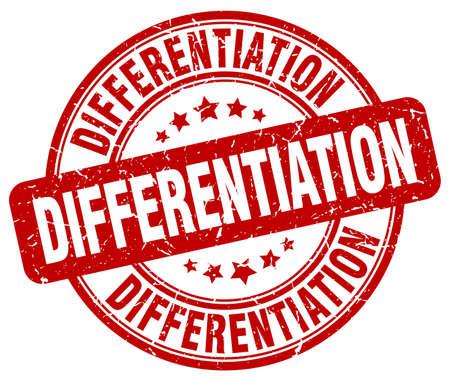 differentiation: differentiation red grunge stamp