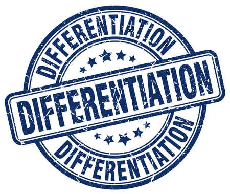 differentiation: differentiation blue grunge stamp