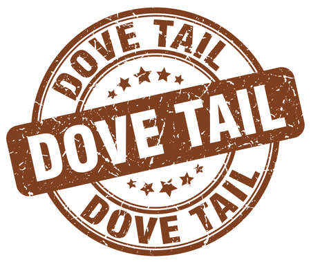 the tail: dove tail brown grunge stamp Illustration