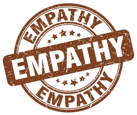 empathy: empathy brown grunge stamp
