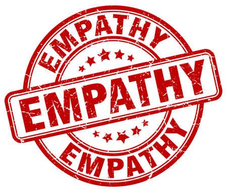 empatia: la empatía del sello del grunge rojo Vectores