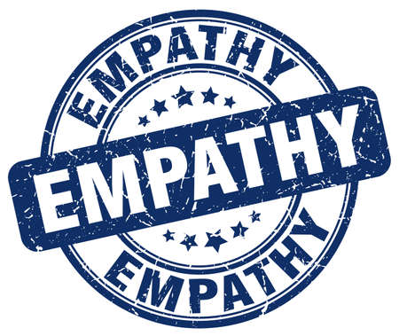 empathy: empathy blue grunge stamp