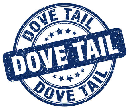 the tail: dove tail blue grunge stamp