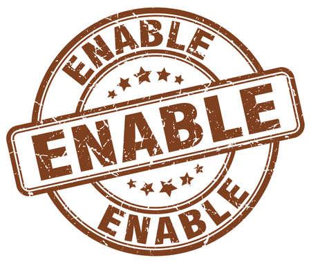 enable: enable brown grunge stamp