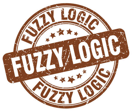 logic: fuzzy logic brown grunge stamp