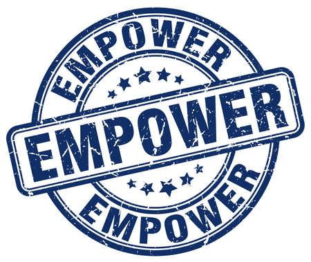 empower: empower blue grunge stamp