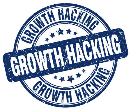hacking: growth hacking blue grunge stamp