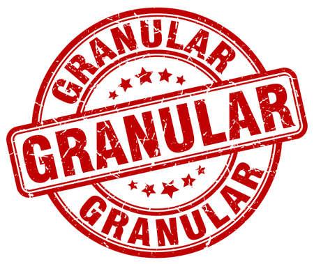 granular red grunge stamp