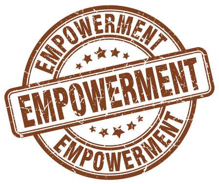 empowerment: empowerment brown grunge stamp Illustration
