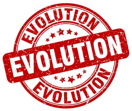 red grunge: evolution red grunge stamp