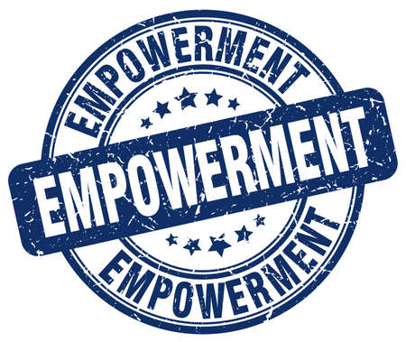 empowerment: empowerment blue grunge stamp