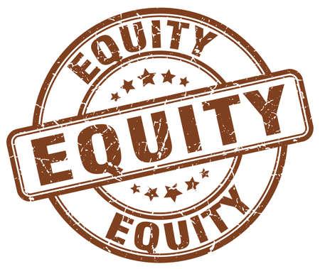 equidad: la equidad del sello del grunge marrón