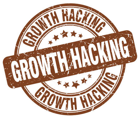 hacking: growth hacking brown grunge stamp