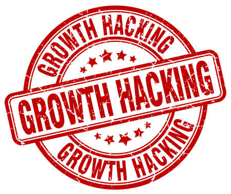 hacking: growth hacking red grunge stamp Illustration