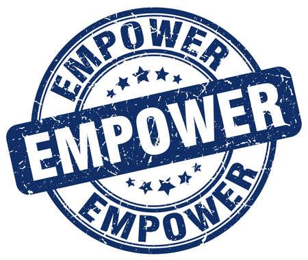 empower blue grunge stamp