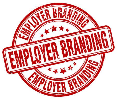 Employer Branding rot Grunge-Stempel