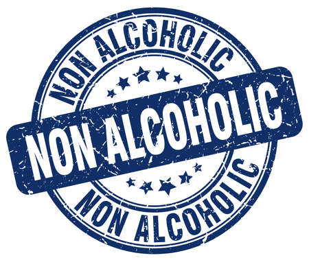 non alcoholic: non alcoholic blue grunge stamp