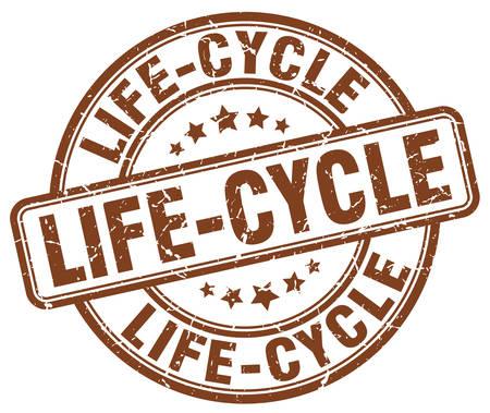 ciclo de vida: ciclo de vida del sello del grunge marrón