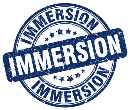 immersion: immersion blue grunge stamp