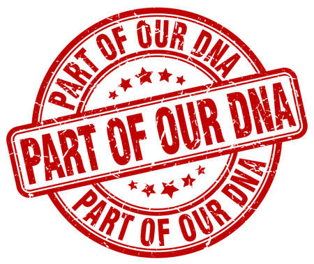our: part of our dna red grunge stamp