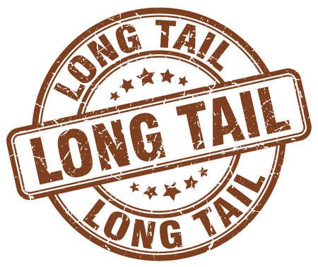 the tail: long tail brown grunge stamp