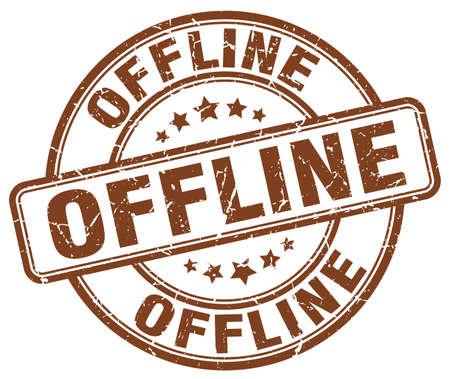 offline: offline brown grunge stamp