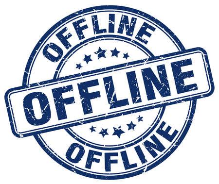 offline: offline blue grunge stamp