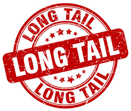 the tail: long tail red grunge stamp