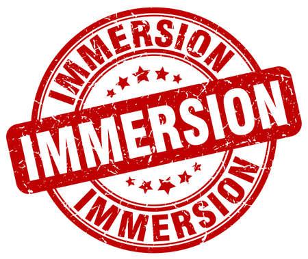 immersion: immersion red grunge stamp Illustration