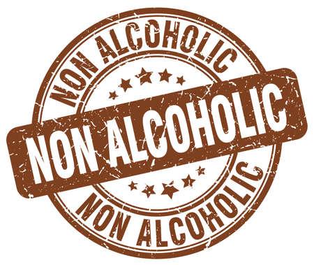 non alcoholic: non alcoholic brown grunge stamp