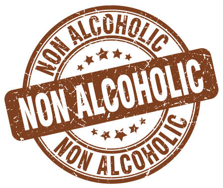 non alcoholic brown grunge stamp