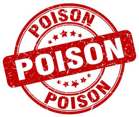 poison: poison red grunge stamp Illustration