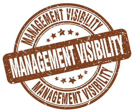 visibility: management visibility brown grunge stamp