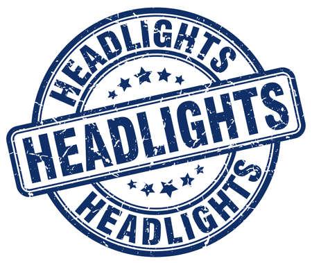 headlights: headlights blue grunge stamp Illustration