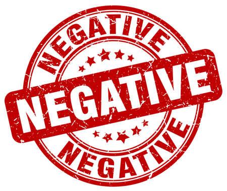 negative: negative red grunge stamp Illustration
