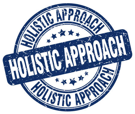 holistic: holistic approach blue grunge stamp