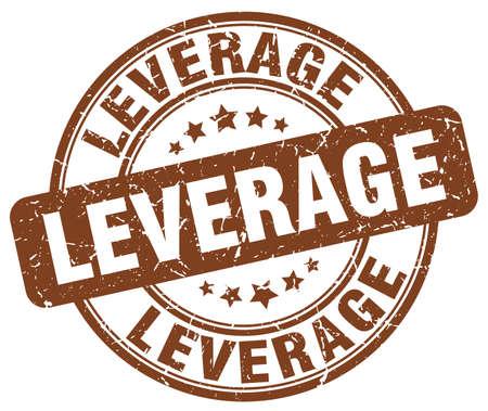 leverage: leverage brown grunge stamp