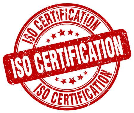 ISO-Zertifizierung rot Grunge-Stempel