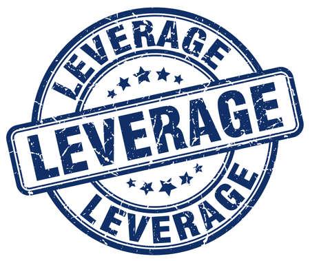 leverage: leverage blue grunge stamp Illustration