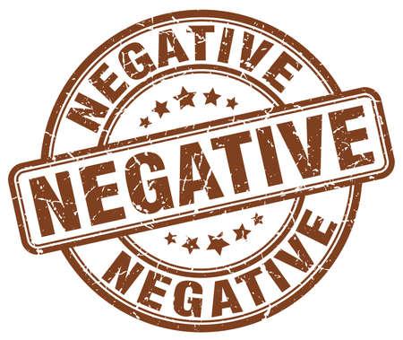 negative: negative brown grunge stamp