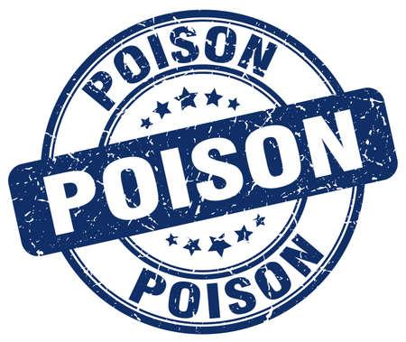 poison: poison blue grunge stamp Illustration