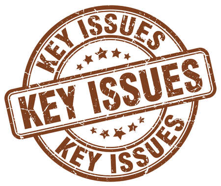 issues: key issues brown grunge stamp Illustration
