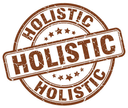 holistic: holistic brown grunge stamp