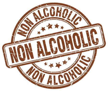 non: non alcoholic brown grunge stamp