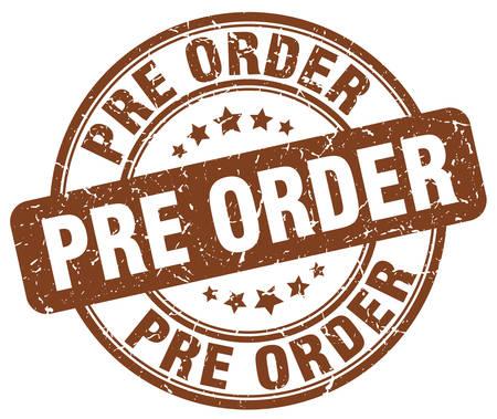 pre order brown grunge stamp Illustration