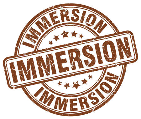 immersion: immersion brown grunge stamp