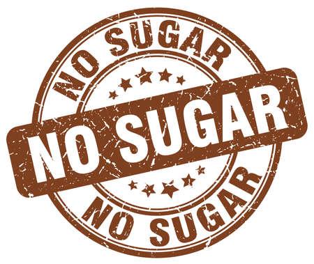 no sugar brown grunge stamp