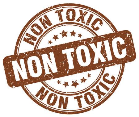 non: non toxic brown grunge stamp