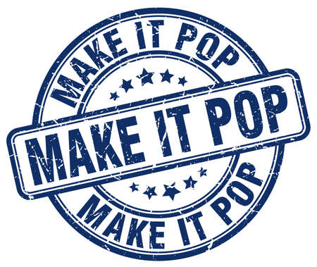 at it: make it pop blue grunge stamp