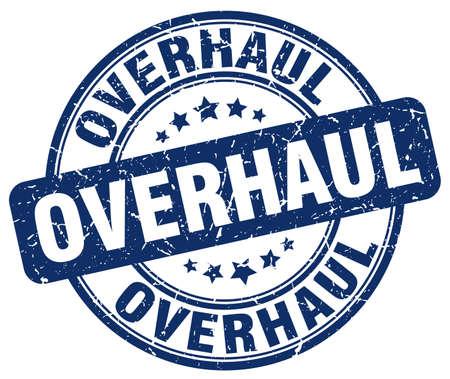 overhaul: overhaul blue grunge stamp